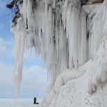 Icy Lake Superior cliffs