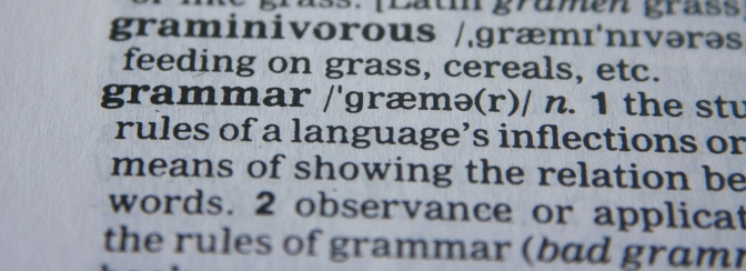 """Grammar, What Big Teeth You Have"" ~~ by Mark Huntley-James"